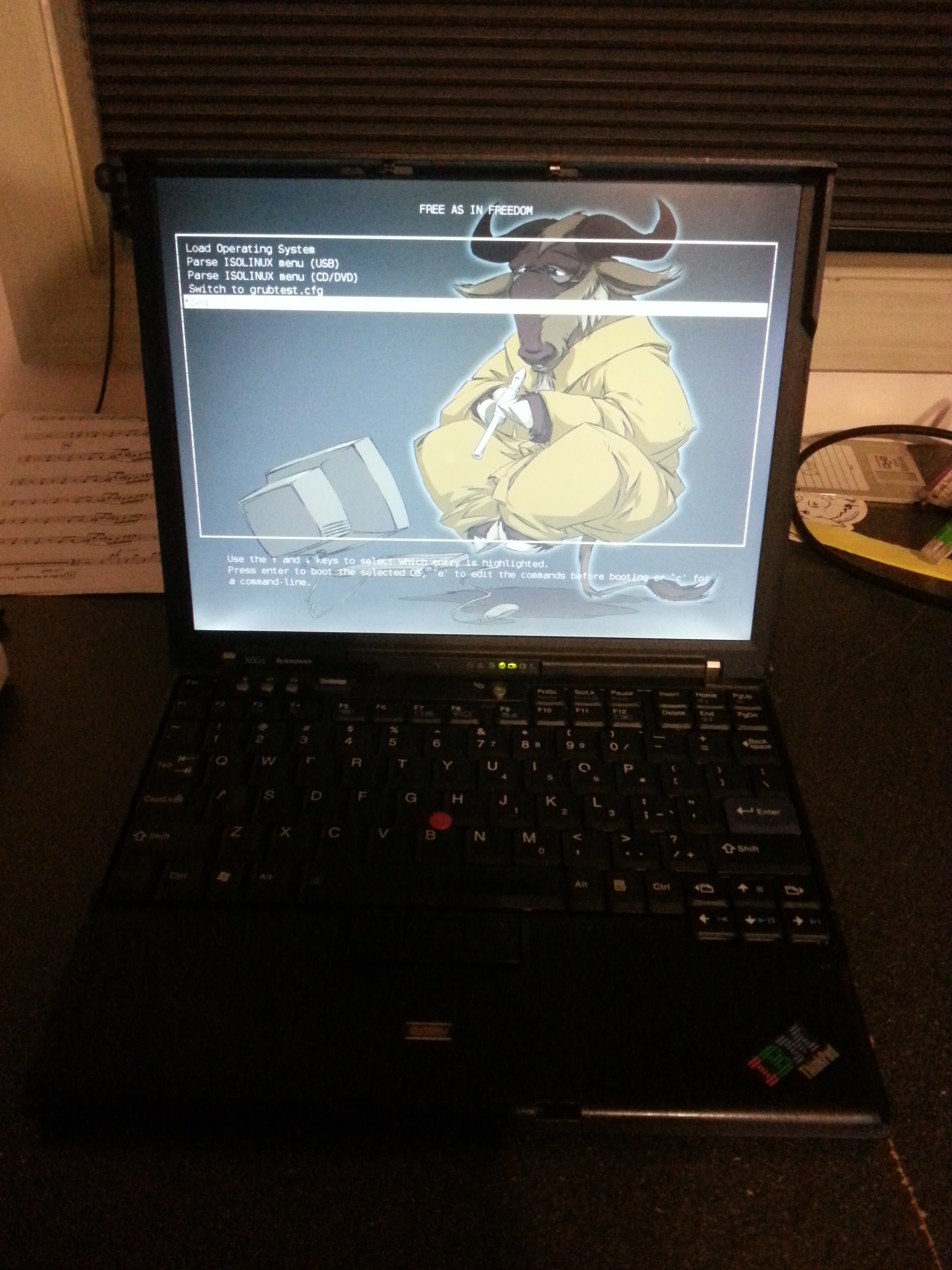 Thinkpad X60s booting libreboot